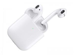 هدفون بی سیم ایر پاد با کیس شارژ وایرلس اپل مدل AirPods with Wireless Charging Case