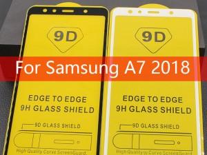 محافظ صفحه نمايش مدل 9D مناسب برای گوشی موبايل سامسونگ A7 2018