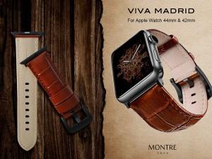 بند چرمی ویوا مادرید مدل Montre CROX مناسب برای اپل واچ 44/42 میلی متری