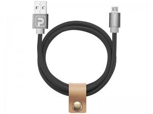کابل تبدیل USB به MicroUSB پاورولوژی مدل Vegan Leather به طول 1 متر