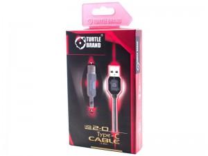 کابل تبدیل USB به Type-C ترتل مدل TB0054 Round Cord Cable به طول 1.2 متر