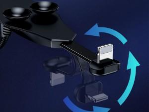 کابل تبدیل USB به Lightning بیسوس مدل Stylish Colorful Sucker CALXA-A01 همراه با پد چسبنده
