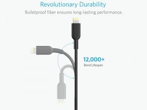 کابل تبدیل USB به Lightning انکر مدل A8432 PowerLine II به طول 0.9 متر