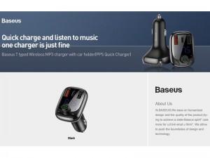 شارژر فندکی و پخش کننده بلوتوث بیسوس مدل S13 T-Type Wireless MP3 Charger با قابلیت مکالمه