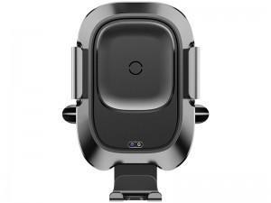 پایه نگهدارنده و شارژر وایرلس گوشی موبایل بیسوس مدل  Smart Vehicle Bracket Wireless Charger WXZN-01