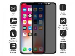 محافظ صفحه نمایش بوف مدل 5D Privacy مناسب برای گوشی موبایل آیفون X