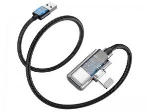 مبدل لایتنینگ به صدا و پورت شارژ بیسوس بیسوس مدل Entertaining Audio Data Cable