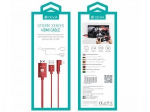کابل تبدیل لایتنینگ و USB به HDMI دیویا مدل Storm Series HDMI Cable
