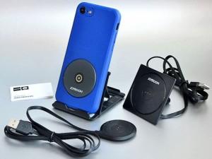 کیت شارژ وایرلس بهمراه پایه نگهدارنده و قاب محافظ جویروم مدل JR-ZS141 مناسب برای گوشی آیفون 7 پلاس
