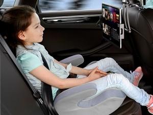 پایه نگهدارنده گوشی موبایل و تبلت صندلی عقب خودرو راک مدل Universal Stretchable Car Headrest Mount