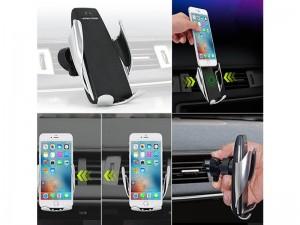 پایه نگهدارنده و شارژر وایرلس گوشی موبایل S5 Smart Sensor