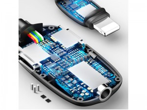مبدل لایتنینگ به جک 3.5 میلیمتری بیسوس مدل Audio Converter L52
