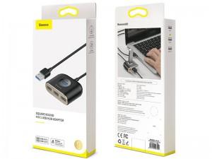 هاب و شارژر 4 پورت بیسوس مدل Square Round 4 IN 1 USB Hub Adapter