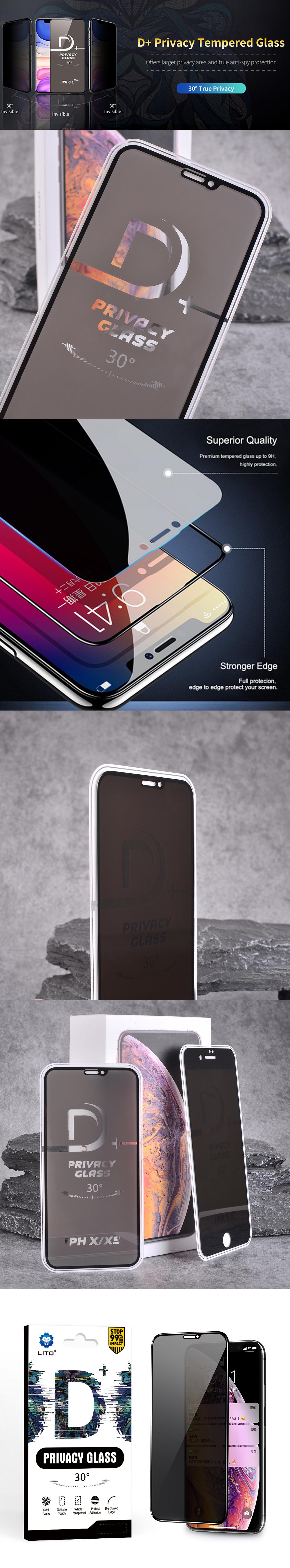 محافظ صفحه نمایش پرایوسی لیتو مناسب برای گوشی موبایل آیفون 12 و آیفون 12 پرو