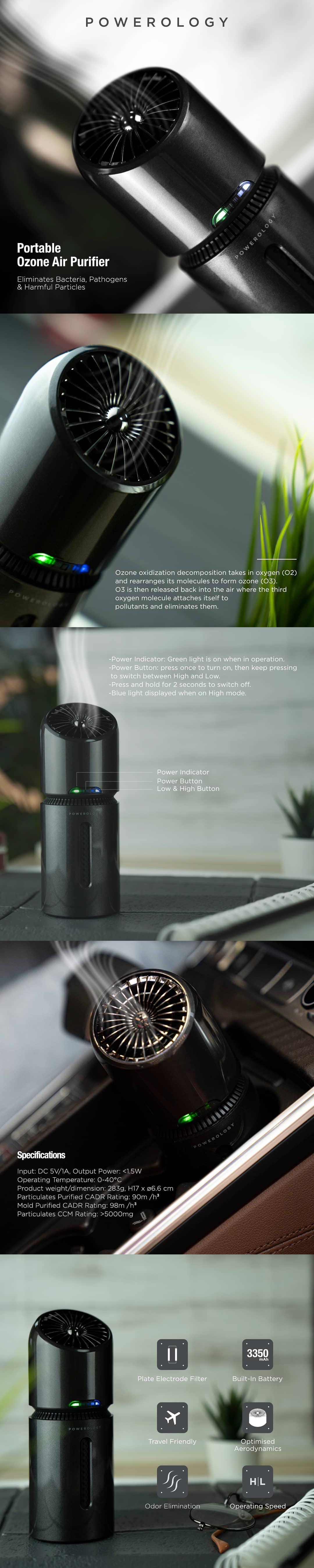 دستگاه تصفیه هوای قابل حمل پاورولوژی