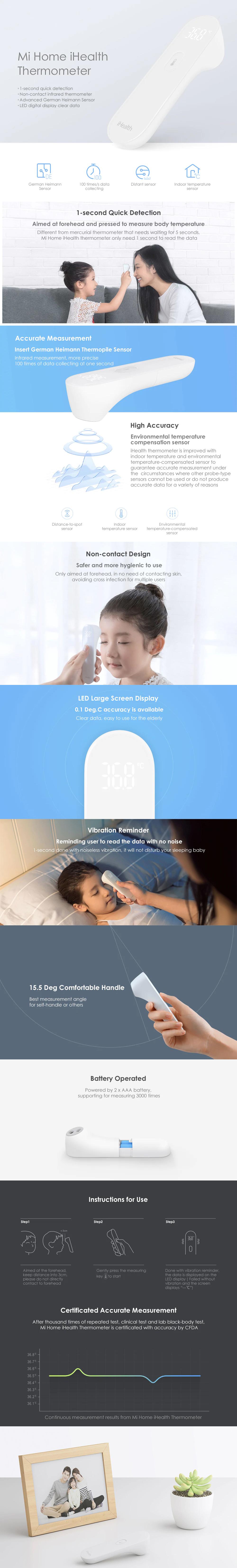 خرید اینترنتی تب سنج دیجیتالی شیائومی مدل iHealth، مشاهده و بررسی لوازم جانبی سایر برندها از فروشگاه آنلاین دکتر جانبی
