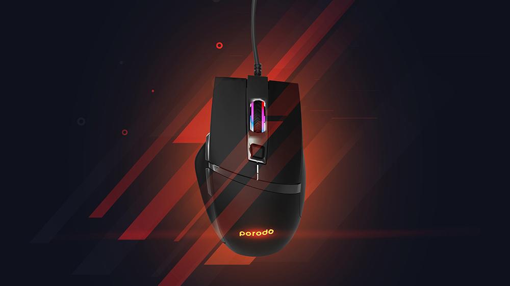 ماوس گیمینگ پرودو مدل PD-GM96 6D Wired Gaming Mouse بهمراه ماوس پد