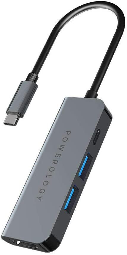 هاب تایپ سی 4 پورت پاورولوژی مدل P4CHBGY