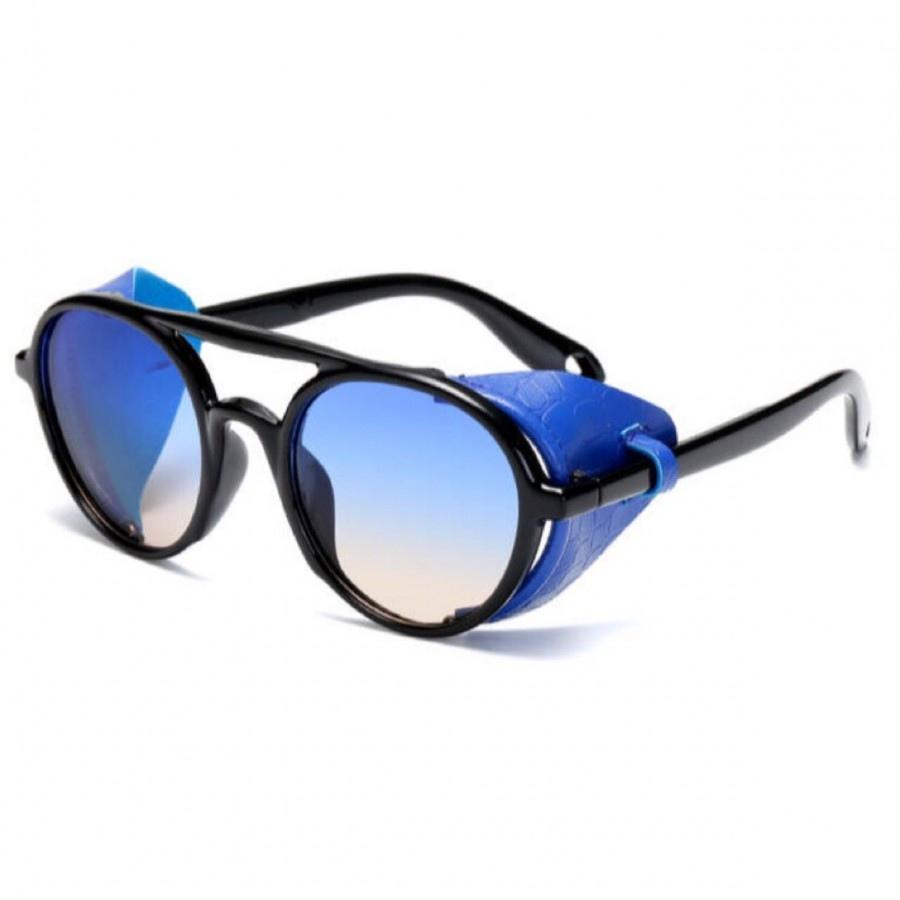 عینک مدل steampunk blue