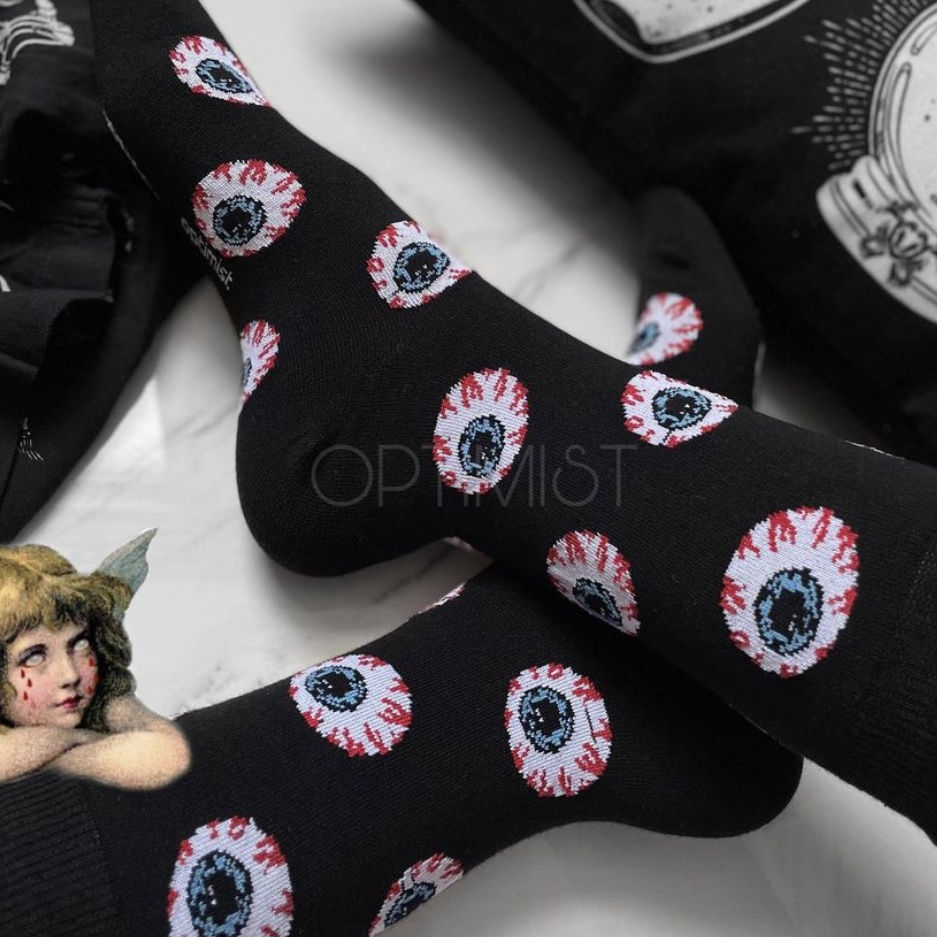 جوراب ساقدار طرح چشم