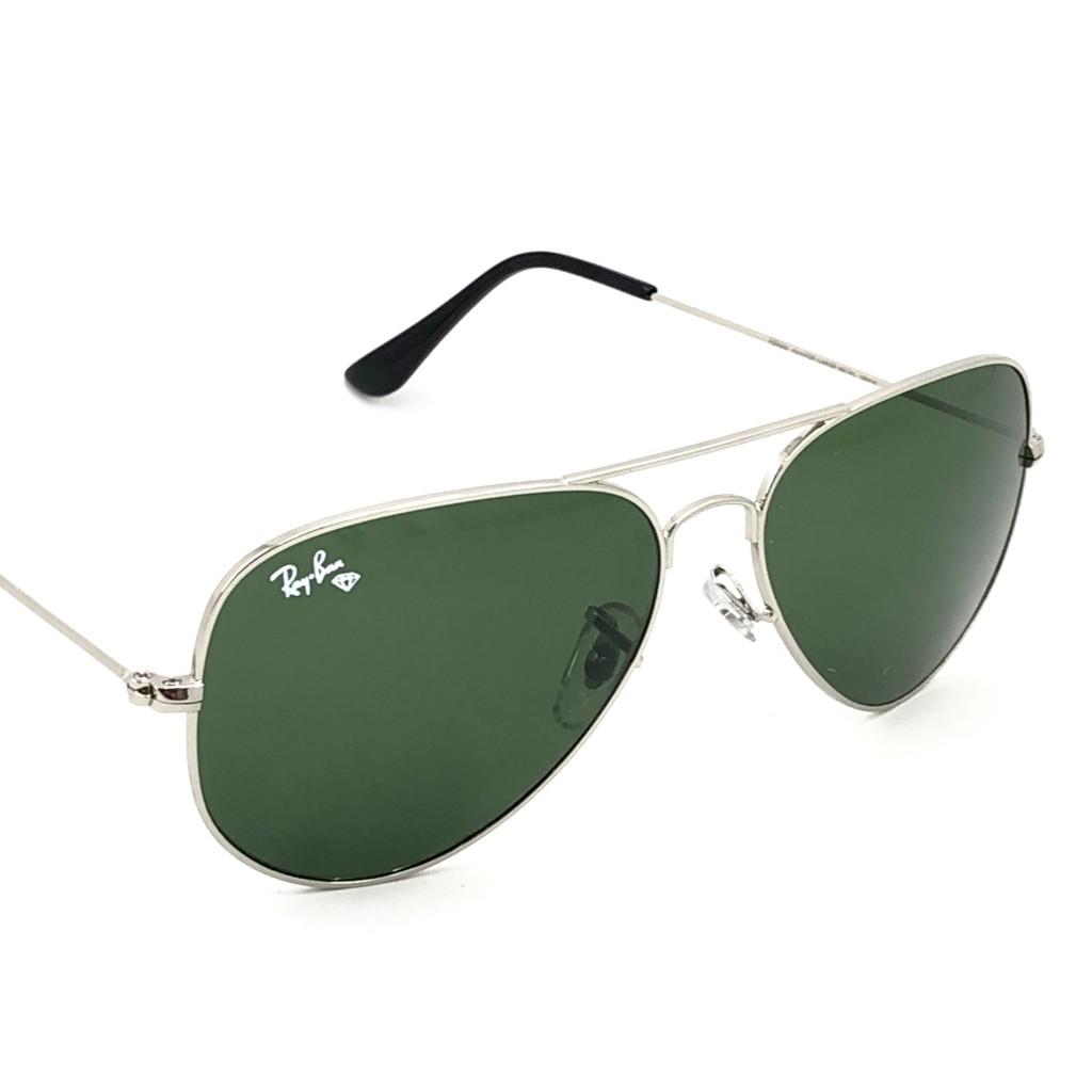 عینک آفتابی خلبانی مدل Aviator-Wht-Grn