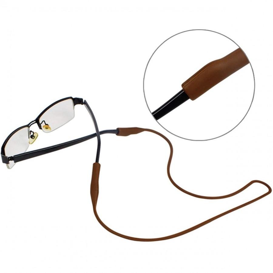 بند عینک سیلیکونی قهوهای Brn