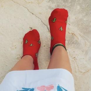 جوراب مچی کاکتوس قرمز