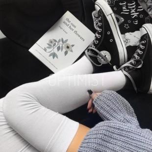 جوراب بالای زانو Pure White