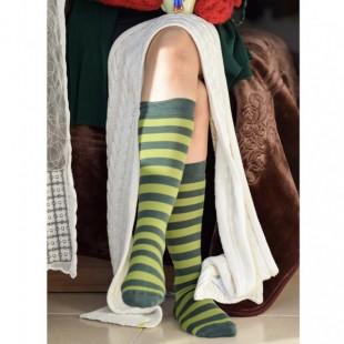 جوراب زیر زانو سبز راهراه grn