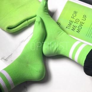 جوراب سبز خط دار