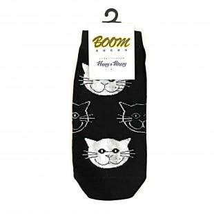 جوراب مچی طرح گربه ای مشکی