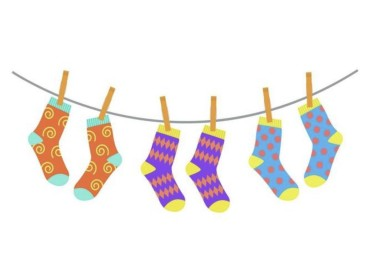 جورابهای رنگیرنگی
