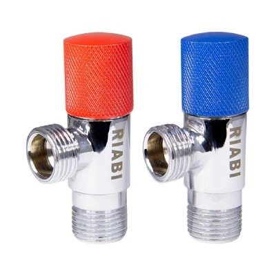 COLORED HANDLE CERAMIC ANGLE VALVE
