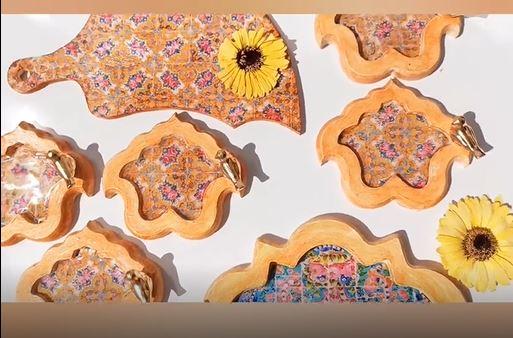 آموزش هفت سین چوبی با رزین اپوکسی