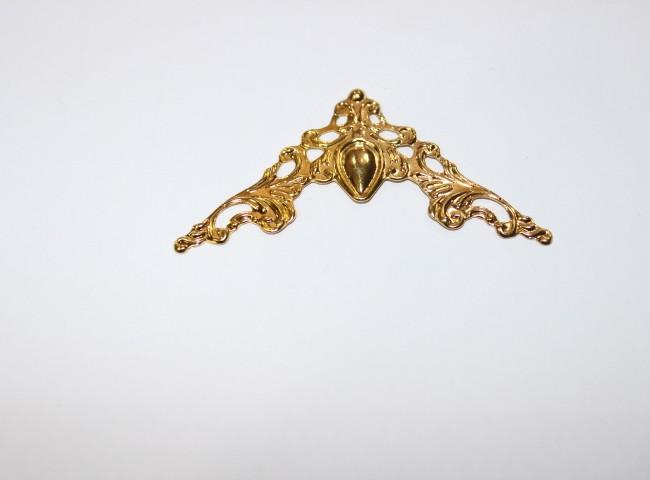 سه گوشه روی کار طلایی شفاف کد152