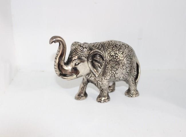 آنتیک    مجسمه فیل نقره ای متوسط