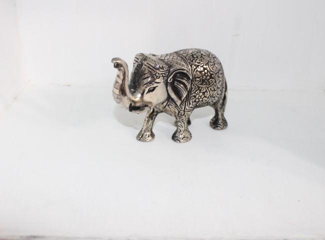 آنتیک    مجسمه فیل نقره ای کوچک