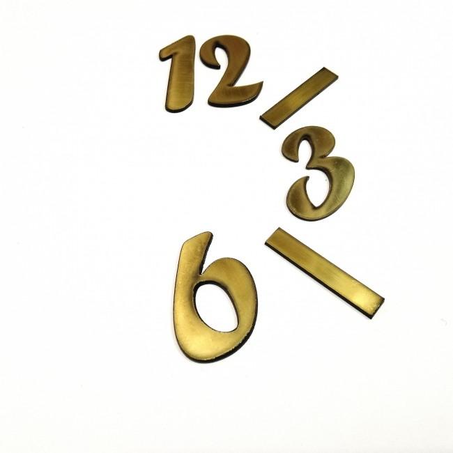 اعداد ساعت لاتین طلایی