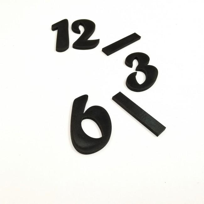 اعداد ساعت لاتین مشکی
