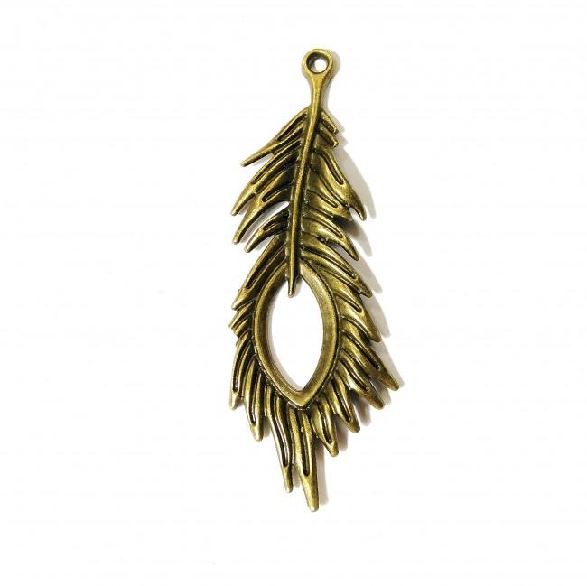 قالب آویز  پر طاووس  برنزی 165