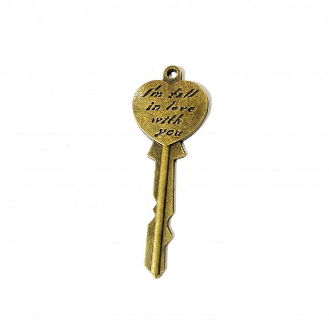 قالب آویز کلید قلبی  برنزی  167