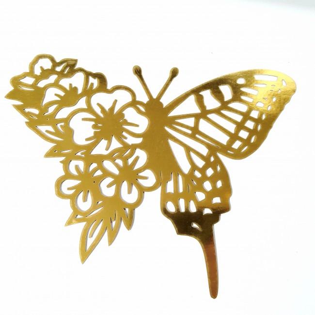 استیکر  گل پروانه ای  44