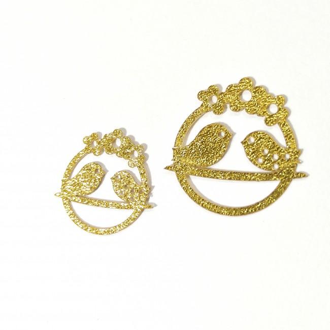 نماد طلایی مرغ عشق کد 19