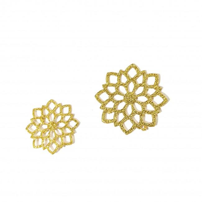 نماد طلایی گل خورشیدی کد 27