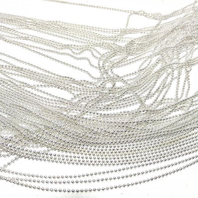 زنجیر متری ساچمه نقره ای 045 ( 2 متری )
