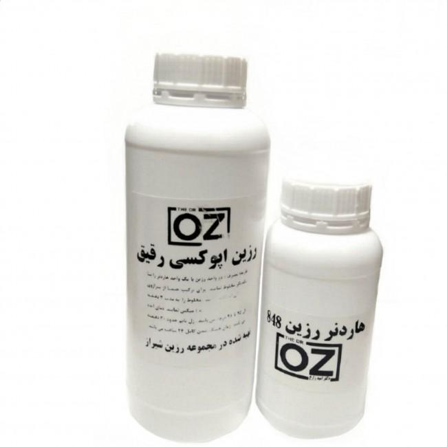 رزین اپوکسی OZ مدل رقیق شفاف 1.5gk مخصوص میز چوب زیورالات قالب