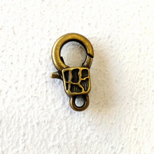 قفل گردنبند طرح دار زرد قلم  083