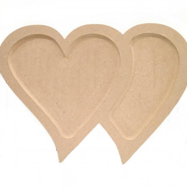 تخته سرو قلبی کف تراش دوتکه