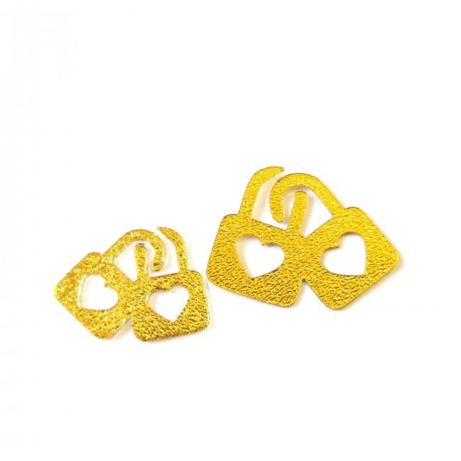 نماد طلایی قفل عشق 54