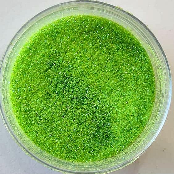 اکلیل گلیتر سبز فسفری ریز کد 133